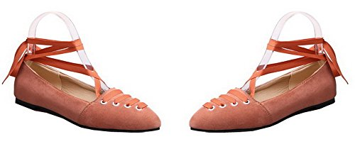 up Hæler Frostet Pumper sko Blonder Solid Lave Kvinners Odomolor Oransje qaXTtt