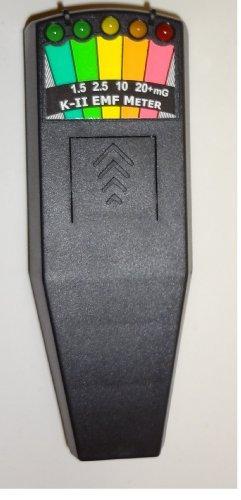K2 KII EMF Meter Deluxe BLACK-New & Improved Design by K-II
