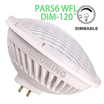 BAOMING PAR56 WFL(Wide Flood Light) Dimmable LED Bulbs 120° Replacement 300W Par56 28W AC120V GX16D Base