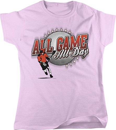 All Game, All Day Men's Lacrosse, LAX Women's T-shirt, NOFO Clothing Co. XL Pink (Gait Lacrosse Net)
