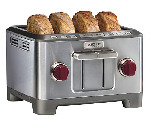 Wolf Gourmet 4 Slice Toaster (WGTR104S) (Red)