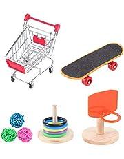 Balacoo Pomoc dla zwierząt domowych, mini kosz do koszykówki na zakupy, zabawna papuga inteligencja trening zabawka do papugi falistej papuga