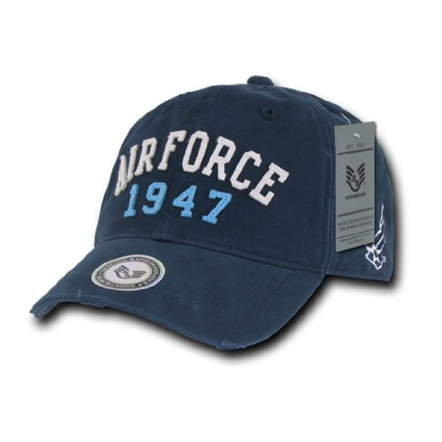 Rapid Dom Vintage Athletic Military Branch Logo Polo Baseball Caps S80 Air Force 1947