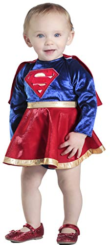 Princess Paradise Baby Girls' Supergirl Costume Dress and Diaper Cover Set, As As Shown, 6 to 12 Months ()