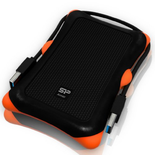 Silicon Power 1TB Rugged Portable External Hard Drive Armor A30, Shockproof USB 3.0 for PC, Mac, Xbox and PS4, Black