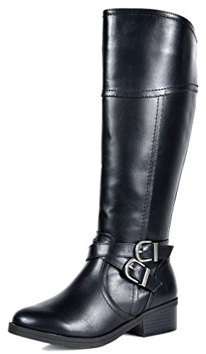 TOETOS Women's Jordan Black Knee High Riding Boots Size 9 M US