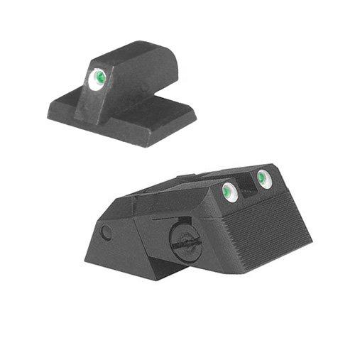 Kensight DAS 1911 Defense Adjustable Rear Sight Set Tritium insert - Night Sights Serrated Blade - 0.230'' Front Sight by Kensight