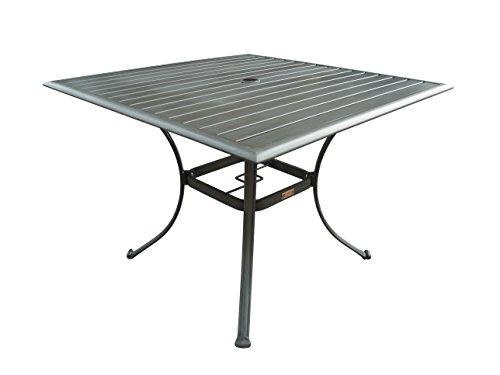Panama Jack PJO-1501-GRY-SQ Newport Beach Square Dining Table, 40