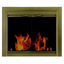Pleasant Hearth CA-3201 Cahill Fireplace Glass Door, Antique Brass, Medium