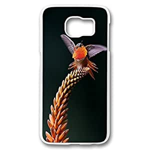 Galaxy S6 case, white PC Fashion Designed Phone Case for Samsung Galaxy S6 - Nature-birds