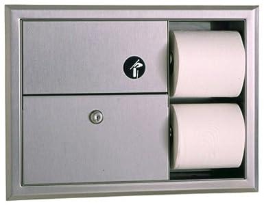 Bobrick 3094 classicseries empotrable de acero inoxidable 304 toalla sanitaria eliminación y dispensador de papel higiénico