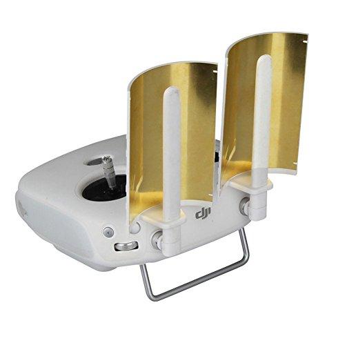 Eaglebeky Copper Parabolic Antenna Range Booster for DJI Phantom 4 Phantom 3 Professional Advanced Inspire 1 Controller Transmitter Signal Extend (2 pcs)