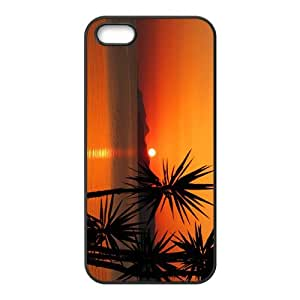 The Sunset And Beach Hight Quality Plastic Case for Iphone 5s