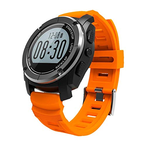 Fitness Tracker, Activity Watch with Heart Rate Monitor, Waterproof Smart Fitness Band with Pedometer, Calorie Counter, for Women and Men,Orange