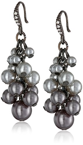 and Crystal Beaded Cluster Dangle Earrings (Beaded Cluster Drop Earrings)