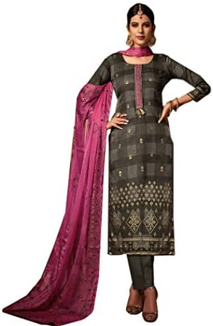 9a0e8eb628 BKRKJ Women's Jam Cotton Silk Fabric Unstitched Dress Material | Bridal  Party Wedding Wear Salwar Suit