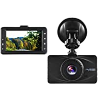 Car Dash Cam, CARSUN Super Night Vision Full HD 1080P 4032x3024 Dash Cam 170° Wide Angle 3 TFT in Car Dashboard Camera DVR Video Recorder with G-Sensor Parking Mode, 16GB Card included - Black