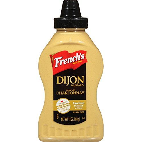 French's Dijon Mustard, Gluten Free Gourmet Mustard with Chardonnay Wine, 12 oz Dijon Gluten Free Mustard