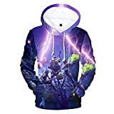Tungly Galaxy 3D Printed Pullover Couples Wear Hooded Sweatshirts