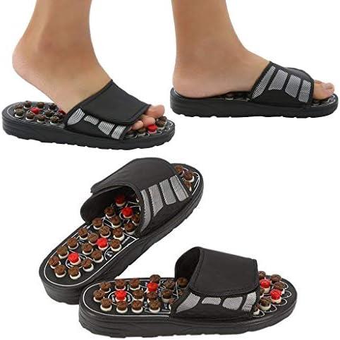 男性の足のマッサージャー指圧マッサージスリッパ経穴マッサージスリッパ靴救済足底筋膜炎かかとのアーチ関節炎神経障害の痛み