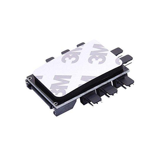 DKEY Fan Hub per connettere 8 Ventole Alimentazione SATA con Interruttore off-Low-High