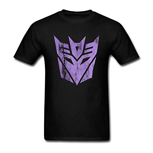 Cinxon Young Transformers Decepticons Distressed Logo 100% Cotton Tee Shirts