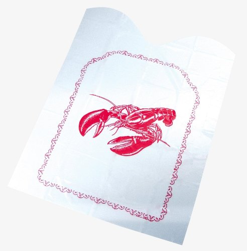 Fox Run Disposable Lobster Bibs, Set of 4, 10-Pack