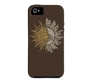 Sun and Moon iPhone 5/5s Bistre Tough Phone Case - Design By Humans wangjiang maoyi