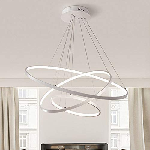 RUNNUP Dimmable Modern Chandeliers LED Three Rings Design Aluminum Pendant Light