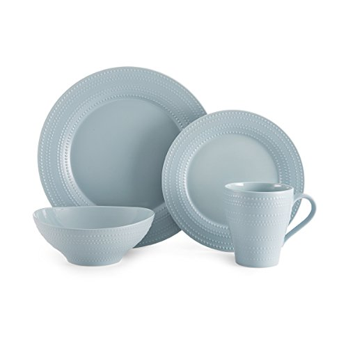 Mikasa Ryder Blue 16-Piece Dinnerware Set, Service for 4