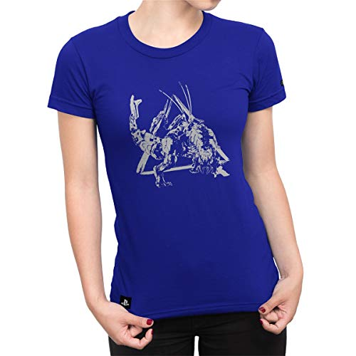 Camiseta Feminina Horizon Zero Dawn Thunderjaw Power - Azul Royal - G