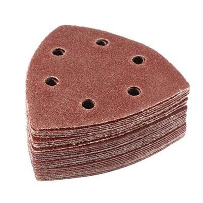 Abrasive Tools - 10pcs 80 Grit Multi Function Delta Sand Paper Pads 90mm Triangle Hook Loop Sanding Sheet - Sheets Orbital Board Cards Tool Holder Wood Paper Nail Pencil Nails Kids Rough Small Di ()