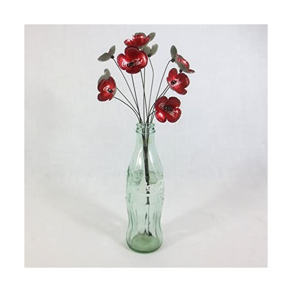 Vibrant Red Coca-Cola Forever Blooming Flowers Bouquet Made to Order