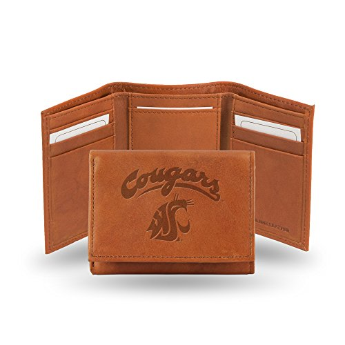 Rico Industries NCAA Washington State Cougars Embossed Leather Trifold Wallet, ()