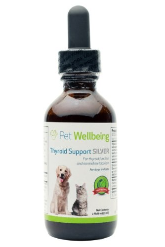 Pet Wellbeing – Thyroid Support Silver for Dog Hypothyroidism – A Natural, Herbal Supplement – Helps Maintain Thyroid Health – 2 oz. Liquid Bottle, My Pet Supplies