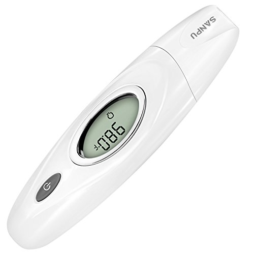 SANPU Ear and Forehead Thermometer Accurate Measurement Temperature ,Used for Anybody, for Baby, for Children and for Adults