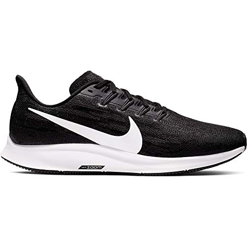 Nike Air Zoom Pegasus 36 (Wide) Men's Running Shoe Black/White-Thunder Grey Size 11.5