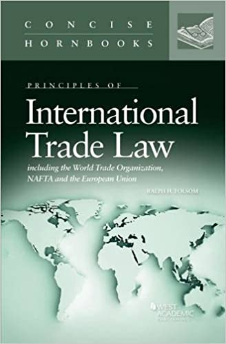 International Trade Law (Concise Hornbook Series): Ralph Folsom