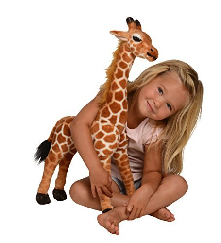 Kangaroo Stuffed Giraffe - Toy Plush Giraffe- 2' High, Neck Moves Giraffe Animal