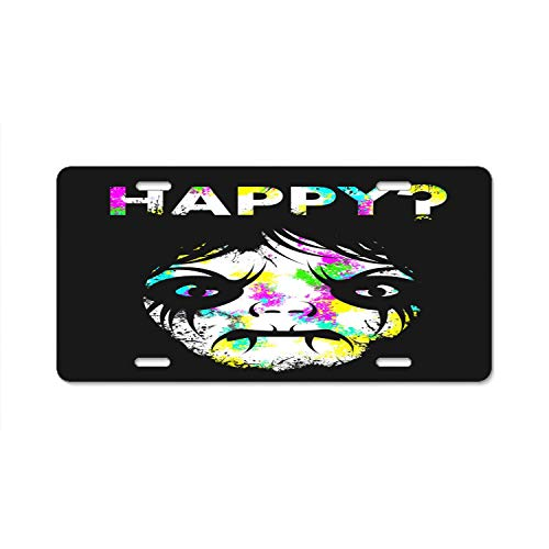 (YEX Abstract Happy Halloween Demon License Plate Frame Car Licence Plate Covers Auto Tag Holder 6
