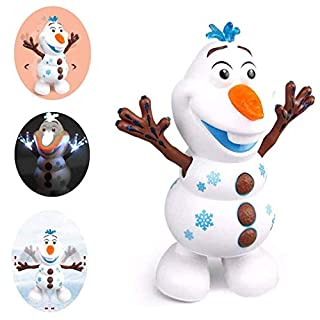 SLKQQQIQ Dancing Walking Snowman Music Dancer Interactive Doll Christmas Birthday Child Growth Gift (1pcs)