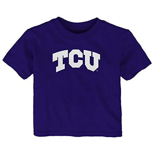 Gen 2 NCAA TCU Horned Frogs Infant Primary Logo Short Sleeve Tee, 18 Months, Regal Purple