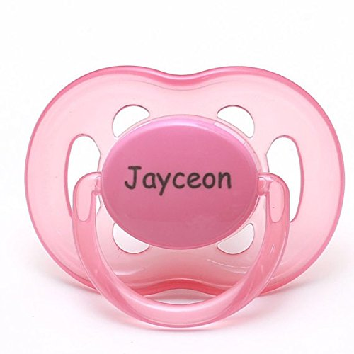 Philips AVENT Personalized Pacifiers by Pacidoodle Customize Now Engraved with Your Babys Name OR Monogram (Pink & Orange 6-18m)
