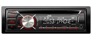 JVC KD-R541E - Radio de coche (reproductor de CD-RW, FM, entrada FM, puerto USB), color negro (importado)