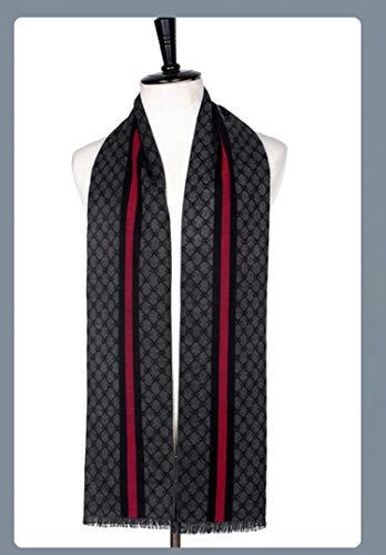 cambio Cashmere inverno rosso 180 Uomini per Sciarpa cm sciarpe lettera grigio coperta Amdxd l'autunno XdzTqd