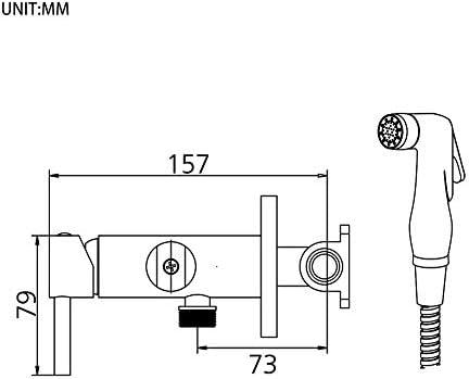 GRIFEMA Irismart - monomando empotrar para bidé WC, agua caliente ...