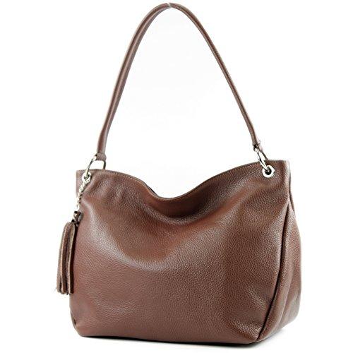 modamoda de - ital. Leather Case Shoulder Bag Shoulder Bag Genuine Leather T154 Brown