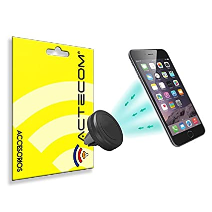 ACTECOM® Soporte Coche MAGNETICO para moviles telefonos Smartphone GPS Viaje iPhone Samsung HTC LG xiaomi