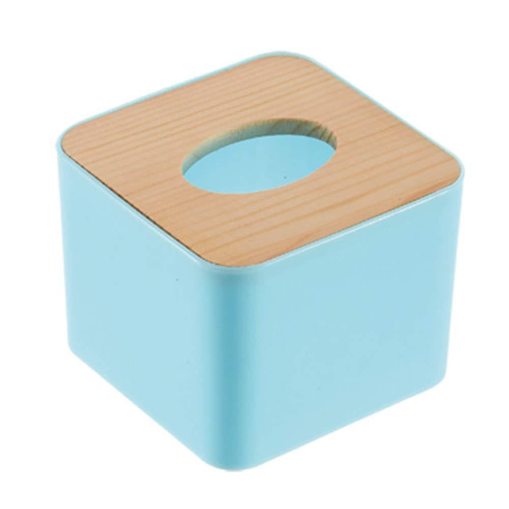 8.5 cm Azul Xuxuou Caja de pa/ñuelos de Papel Rectangular de Madera Tejidos para Decoraci/ón Accesorio para Ba/ño y Sala de Estar size 11 11