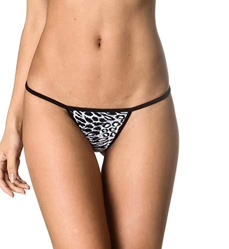 THE MESH KING Coqueta Brazilian Teeny Itsy Bitsy Micro Thong Mini Bikini Swimsuit G String Madagascar-SM (Uv Thong Underwear)